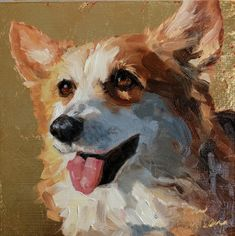 Daily Paintworks - Search through our over Paintings: New Original Fine Art Daily Paintings; Oils, Acrylics, Watercolors, and more from a growing group of Daily Painters Wildlife Paintings, Animal Paintings, Animal Drawings, Corgi Drawing, Dog Portraits, Horse Art, Dog Art, Cute Art, Dog Love
