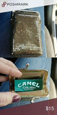 ISO , vintage cigarette case ISO,  VINTAGE CIGARETTE CASE, preferably by Whiting and Davis, I've seen some on here, but I only paid 12 for this one.  Let me know. Whiting and Davis  Bags Mini Bags
