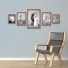 5er Set Bilderrahmen, 15x20, 20x30 und 30x45 cm, Kirsche, 58 Euro