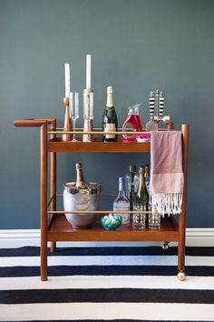 The perfect bar cart for any occasion: The Mid-Century Bar Cart by west elm…