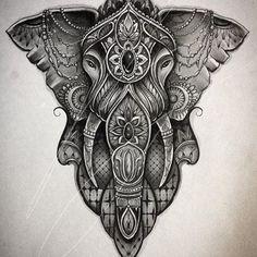 Tattoo Designs Foot, Feather Tattoo Design, Lion Tattoo Design, Mandala Tattoo Design, Tattoo Sleeve Designs, Sleeve Tattoos, Mandala Elephant Tattoo, Elephant Tattoo Design, Elephant Tattoos