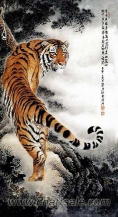 Chinese Tiger Painting AP029