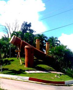 Monumento al Tambor en Barlovento, Miranda, Venezuela