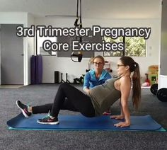 Pregnancy Abs, 3rd Trimester Pregnancy, Pregnancy Workout Videos, Exercise During Pregnancy, Prenatal Workout, Prenatal Yoga, Pregnancy Pillow, Pregnancy And Fitness, Pregnancy Lunches