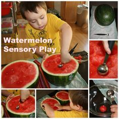 Roll Up Your Sleeves for Some Wonderful Watermelon Sensory Play with Little Bins for Little Hands