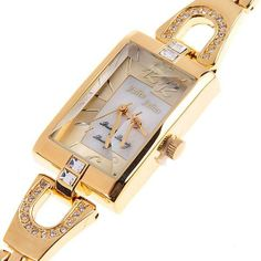 (JULIUS) Stylish Bracelet Quartz Wrist Watch Timepiece with Square Case for Lady Woman Girls - Free Shipping