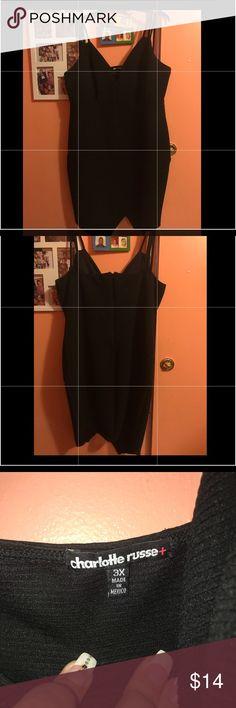 Little black dress plus size Tight fit to body. Lovely black dress Charlotte Russe Dresses Mini