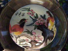 CRYSTAL GLOBE INSIDE PAINTED SCENES OF BIRDS, TIGER, PRINCESSES,$62.00 - $143.00