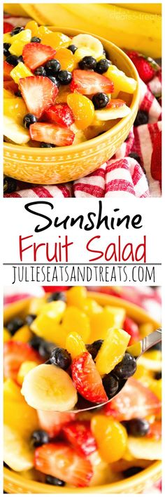 Factors You Need To Give Thought To When Selecting A Saucepan Sunshine Fruit Salad Delicious, Easy Fruit Salad Recipe Filled With Strawberries, Pineapples, Bananas, Blueberries And Mandarin Oranges Perfect As A Side Dish Or For Brunch Brunch Recipes, Breakfast Recipes, Brunch Ideas, Drink Recipes, Smoothie Fruit, Fruit Salad Recipes, Fruit Salads, Fruit Fruit, Fruit Dishes