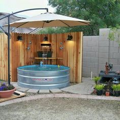 Love the idea of a galvanized pool if a built in is not an option