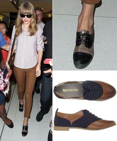 Taylor Swift's Brown & Black Oxfords