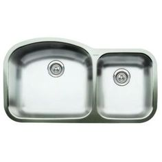 ($264) Norstar Undermount Stainless Steel 37.4x20.9x8 0-Hole 1-3/4 Double Bowl Kitchen Sink-440118 at The Home Depot