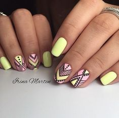 types of nail shapes Backpack Bags - The most beautiful nail designs Types Of Nails Shapes, Nails Types, Tribal Nails, Yellow Nails, Pastel Yellow, Trendy Nail Art, Manicure E Pedicure, Super Nails, Beautiful Nail Designs