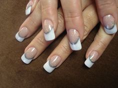 Pink and White Acrylic with Color Couture Gel Enamel