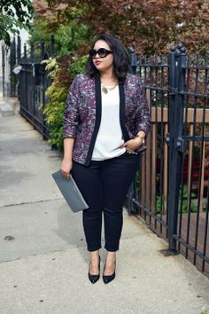 Blazer + Loose blouse + Rolled up skinny jeans                                                                                                                                                      More