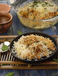 Kabuli Chana Kofta Biryani recipe | Indian Recipes | by Tarla Dalal | Tarladalal.com | #1970
