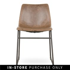 A perfect fit for your industrial inspired dining room or living space, the Origin dining chair is both comfortable and classic in design, making a strong