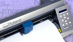 Roland® GX-24 #VinylCutter Stahls.com  The optical eye enables accurate alignment for contour cutting on pre-printed designs.
