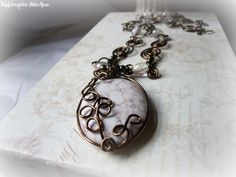Faery Essence NecklaceOOAK White Turquoise by RainwaterStudios, $38.00