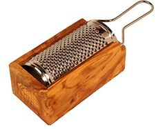 Olive Wood Stainless Steel Grater - Williams Sonoma - I mostly use this for grating parmesan.