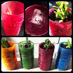 DIY Tiki Tumbler Planters