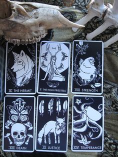 The NØMAD Tarot Deck, illustrated by Jennifer Dranttel