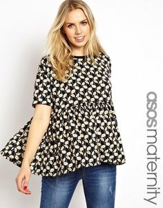 FASHION DUES & DUEN'TS - Modern Maternity Style Category | ASOS Maternity Smock Top in Daisy Print