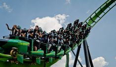 The superhero-themed Green Lantern roller coaster ride at Six Flags Great Adventure requires riders to gather their courage and stand up for a two-and-a-half-minute thrill. Roller Coaster Pictures, New Roller Coaster, Roller Coasters, Six Flags Great Adventure, Greatest Adventure, Great America, Ny Times, New Jersey, Lantern