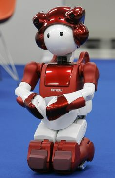 "Hitachi's EMIEW2, a ""human symbiotic service robot safely supporting everyday life"""