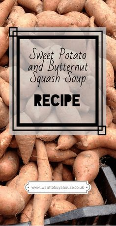 Soup Maker Recipes - Sweet Potato and Butternut Squash Soup - Reich Sweet Potato Soup, Butternut Squash Soup, Soup Recipes, Potato Recipes, Soups And Stews, Stuffed Mushrooms, Potatoes, Eat, Ainsi