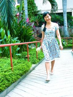 floral summery dress