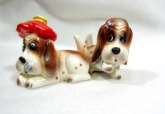 BASSETT HOUND S&P shakers. (AWE!  For my collection.  ASW)