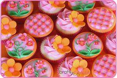 Pink & Orange Cupcakes
