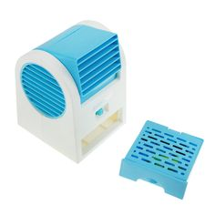 Portable Air Conditioner Fan USB/Battery Operated Desktop Mini Fan Drawer Style Perfume Smell Bladeless Summer Cooling Fan for Home Office and Outdoor Travel Fashion Blue * Visit the image link more details. (This is an affiliate link) #HighEfficiencyAirConditioner
