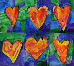 My 5 & 6 year old (Kindergarten/1st grade split) students learned about American pop artist, Jim Dine (b. 1935). After viewing one of Jim Dine's paintings, Imogen, I had them recreate a …