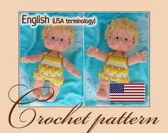 Amigurumi Pattern Crochet Doll - Antoshka / PDF file by Anna Sadovskaya