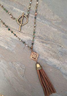 Cool boho long necklace