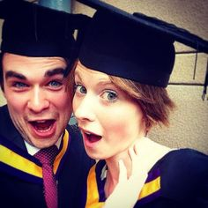 Graduating with the first class @ChloeKnibbs1 with our degrees in Music #salcgrad #selfie pic.twitter.com/N5F3aAnsRu