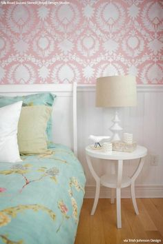 Interior Design & Wall Stencil Painting Tips from Designer Trish Johnston - Wall Stencils from Royal Design Studio