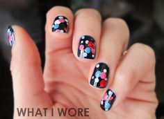 I want to try this. Christina recommends trying it on my toes first. That implies I have nice toenails to even paint...    http://whatiwore.tumblr.com/post/18249851827/saturday-morning-manicure-dotty