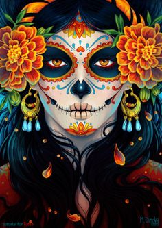 Dia de los muertos, day of the dead, calavera, sugar skull, Halloween costume, makeup,
