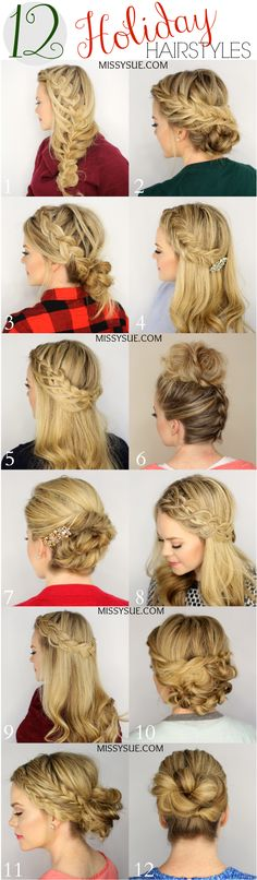 12 Holiday Hairstyles by Missy Sue