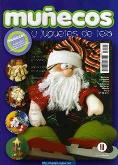 Munecos y juguetes de tela - Munecos y juguetes de tela. Christmas Sewing, Christmas Books, Winter Christmas, Handmade Christmas, Christmas Crafts, Christmas Decorations, Christmas Ornaments, Christmas Stuff, Book Crafts