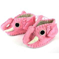 Pink Elephant Zooties Baby Booties