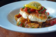 AMZing Eats: Red Snapper with Baby Potatoes, Wild Mushroom and Artichoke Ragout with Vierge Sauce