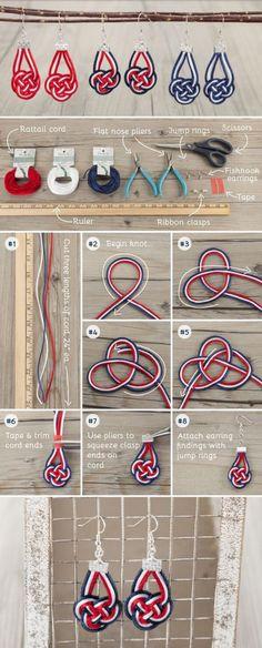 三色简单编织首饰饰品 耳环手镯手工diy图片教程