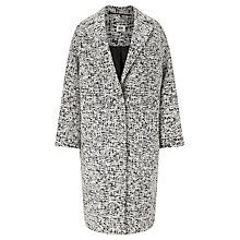 Buy Kin by John Lewis Textured Cocoon Coat, Black/White Online at johnlewis.com