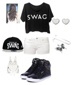 """#Swag"" by alaysiaaaaaa ❤ liked on Polyvore featuring moda, Edwin, Pastry, Swarovski e River Island"