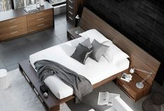 Maison Corbeil |   Sonoma bed  Available in king? Can buy bed seperately? Includes bedside tables?