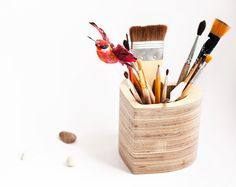 Items similar to Exclusive gift love Organizer woodwork pencil holder Wooden organizer Office desk organization ideas Desk storage Brushes stand Pens cup on Etsy Pencil Holder, Pen Holders, Wooden Organizer, Cute Pens, Pencil Cup, Gifts For An Artist, Desk Storage, Valentines Day Gifts For Him, Wooden Hearts